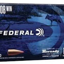 Federal Varmint & Predator Hornady V-Max  308 WIN Grain 20Rds