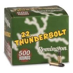 Remington ThunderBolt Rifle Ammo 22LR 50x10ct