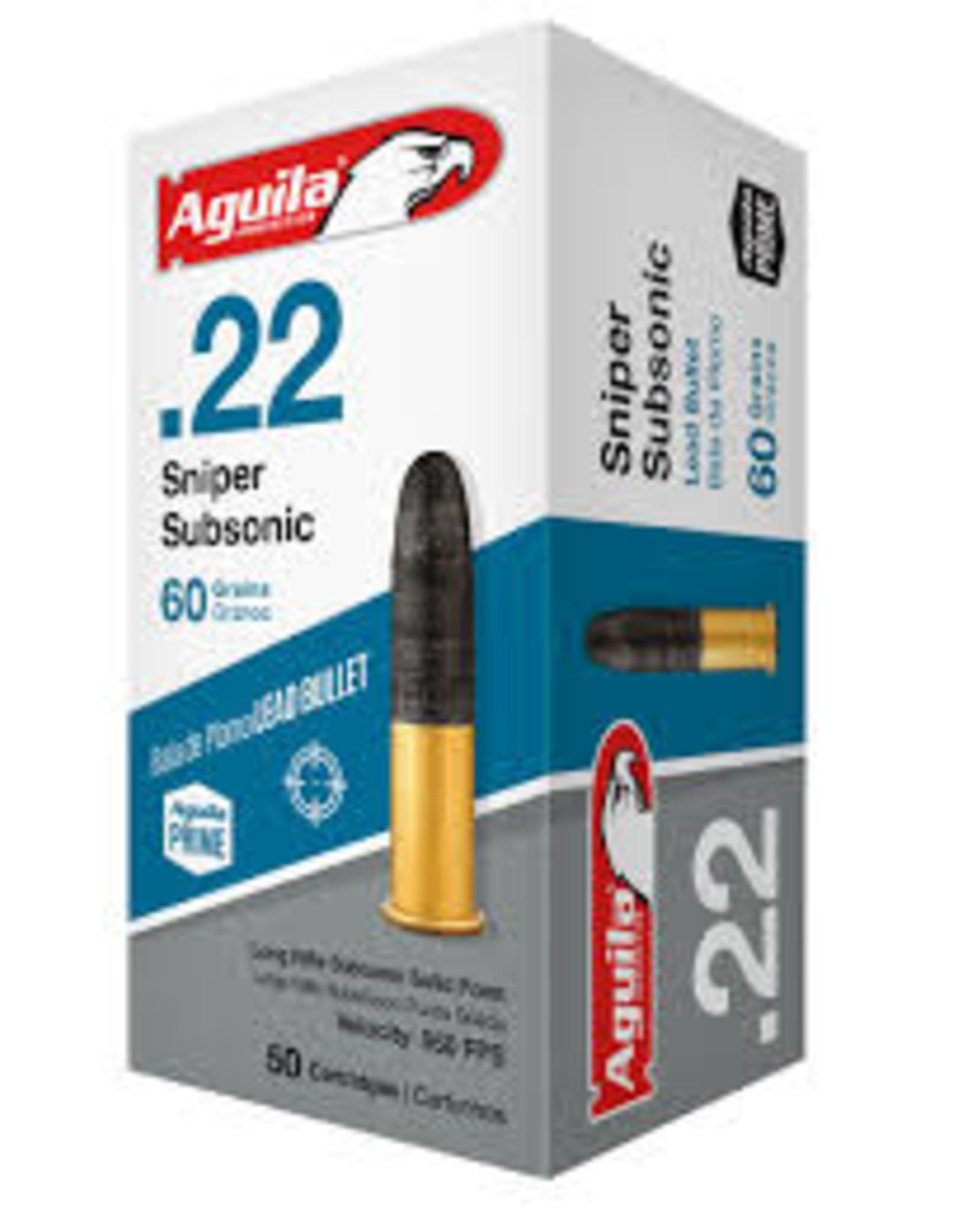 Aguila Aguila .22 sniper sub 60gr