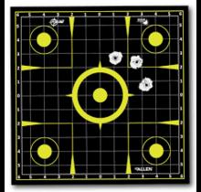 Allen EZ Aim Pull-N-Shoot Splash 12x12 Sight-In Roll 8 Pieces