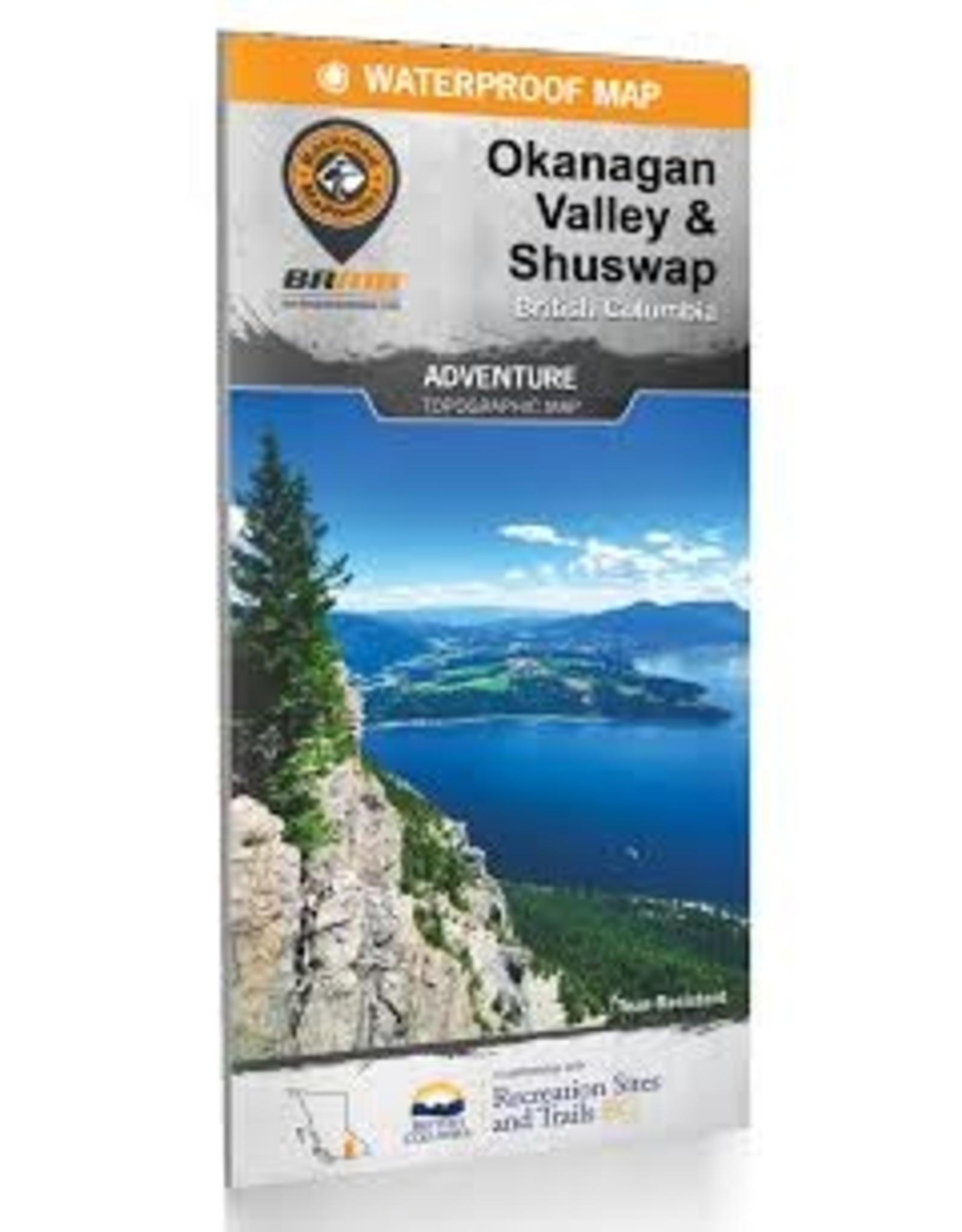 BRMB BRMB Okanagan Valley & Shuswap BC Waterproof Map