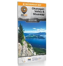 BRMB BRMB Okanagan Valley & Shuswap BC Waterproof Map
