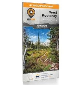 BRMB BRMB West Kootenay BC Waterproof Map