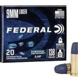 Federal 9mm Luger 138GR SJHP 20RDS