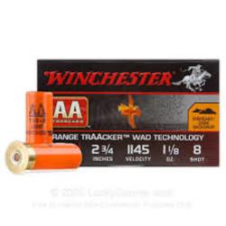 "Winchester AA Traacker Orange 12 GA 2 3/4"" #8"
