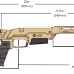 MDT LSS-XL Gen2 Chassis System-Savage SA-Right Handed-Fixed Interface Cerakote FDE