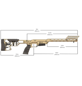 MDT MDT LSS-XL Gen2 Chassis System-Savage SA-Right Handed-Fixed Interface Cerakote FDE