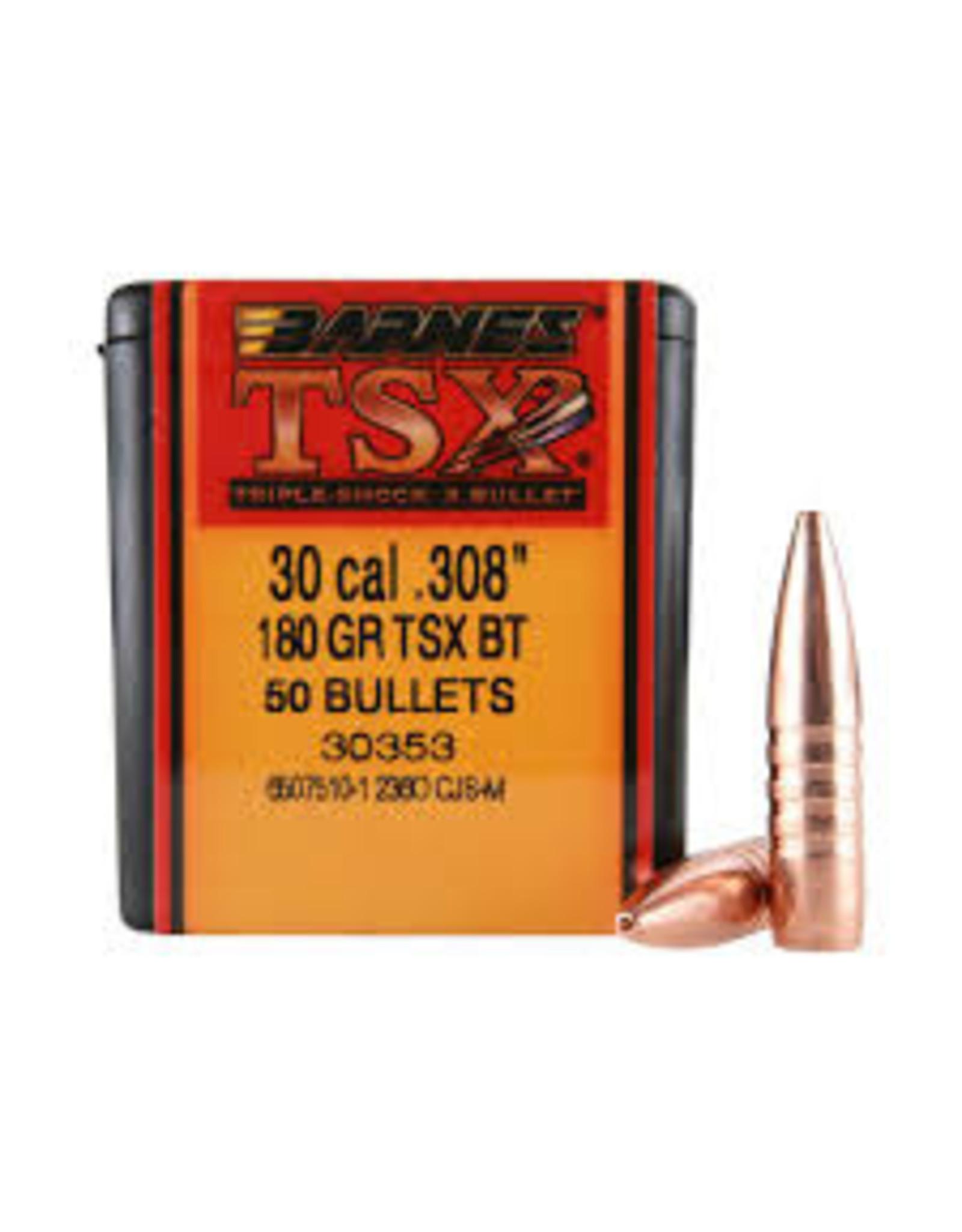 """Barnes Barnes TSX 30 Cal .308"""" 180GR TSX BT"""