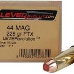 Hornady LEVERevolution 44 Rem Mag FTX 225 20rnds