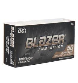 CCI CCI Blazer Ammo 9mm Luger 115Gr FMJ