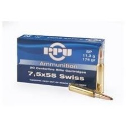 PPU 7.5X55 Swiss SP 174GR