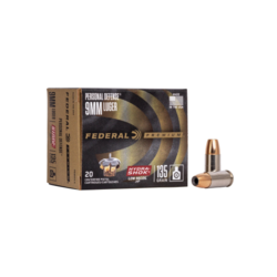 Federal Personal Defense 9mm Luger135GR Hydra-Shok Low Recoil JHP