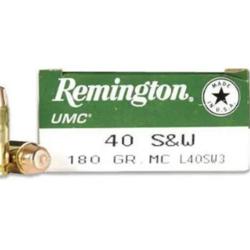 Remington UMC Mega Pack Pistol Ammo 40 S&W  180GR FMJ 990FPS 250Rds