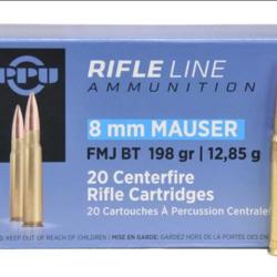 PPU 8MM Mauser FMJ BT 198gr