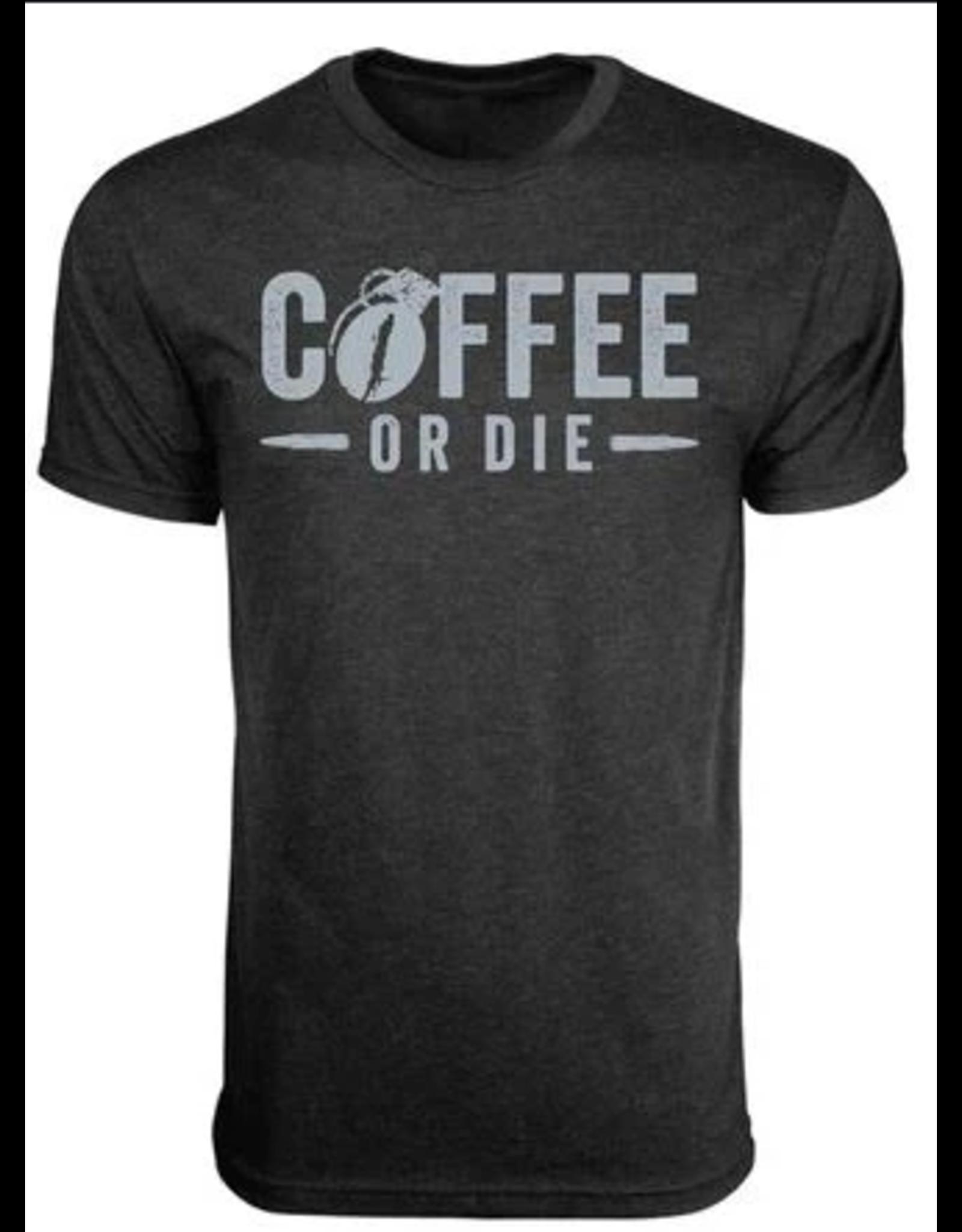 BLack Rifle Coffee Black Rifle Coffee Coffee or Die Grenade T-Shirt Vintage Black L