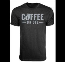 Black Rifle Coffee Coffee or Die Grenade T-Shirt Vintage Black L