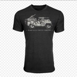 Black Rifle Coffee SAS Jeep Vintage Black T-Shirt XL
