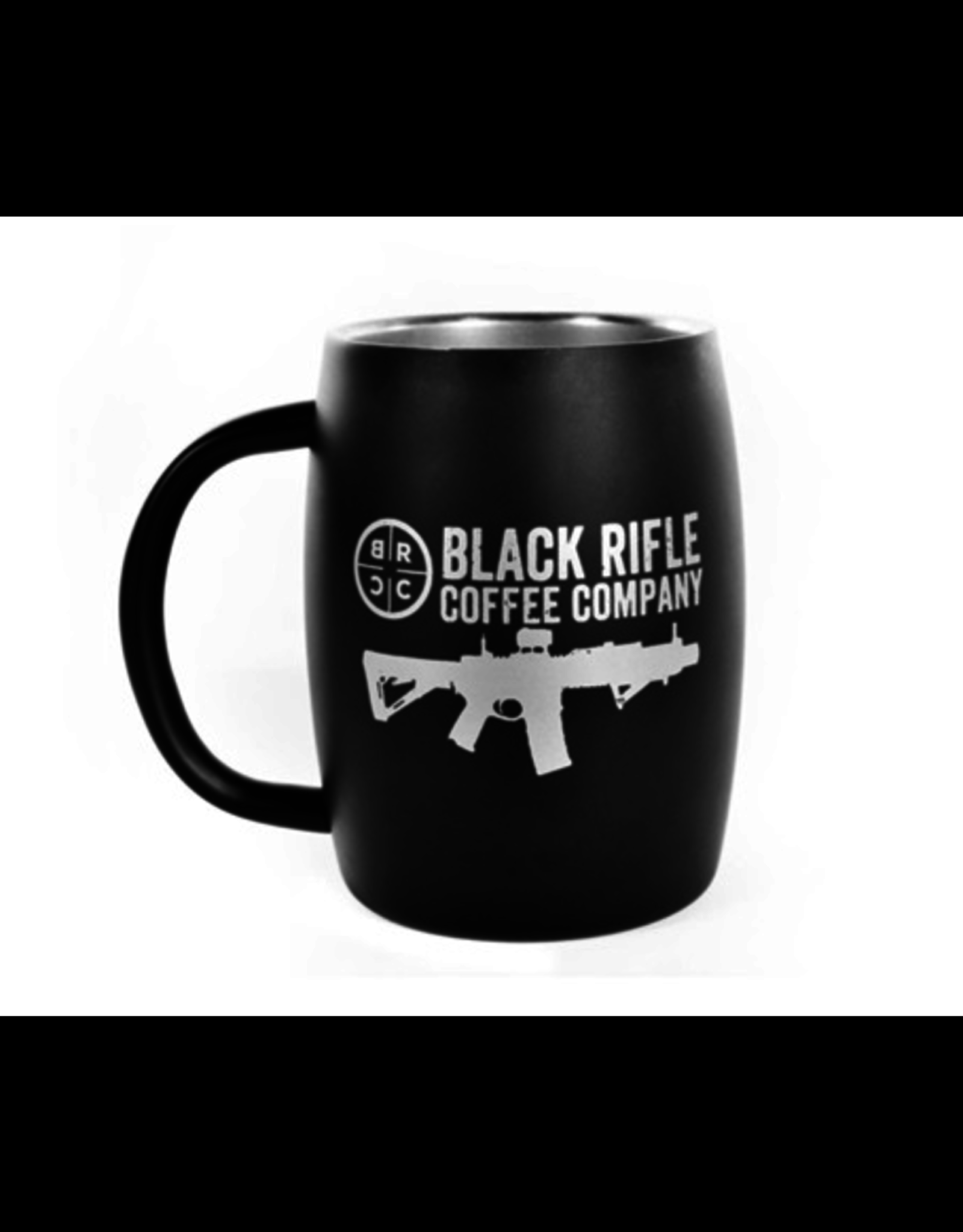 BLack Rifle Coffee Black Rifle Coffee Stainless Steel Mug Black Matte
