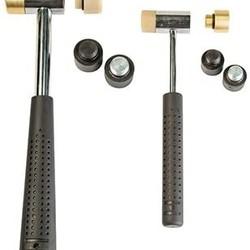 wheeler Master Gunsmith Interchangeable Hammer Set ( 2 Hammers 8 Heads )