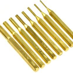 Wheeler 8 Piece Brass Punch Set