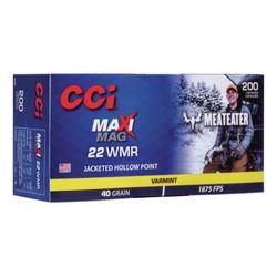 CCI Maxi-Mag 22 WMR 40GR JHP Meateater 200ct