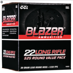 CCI Blazer Rimfire Bulk Pack 22LR 39 GR LRN 525 RDS