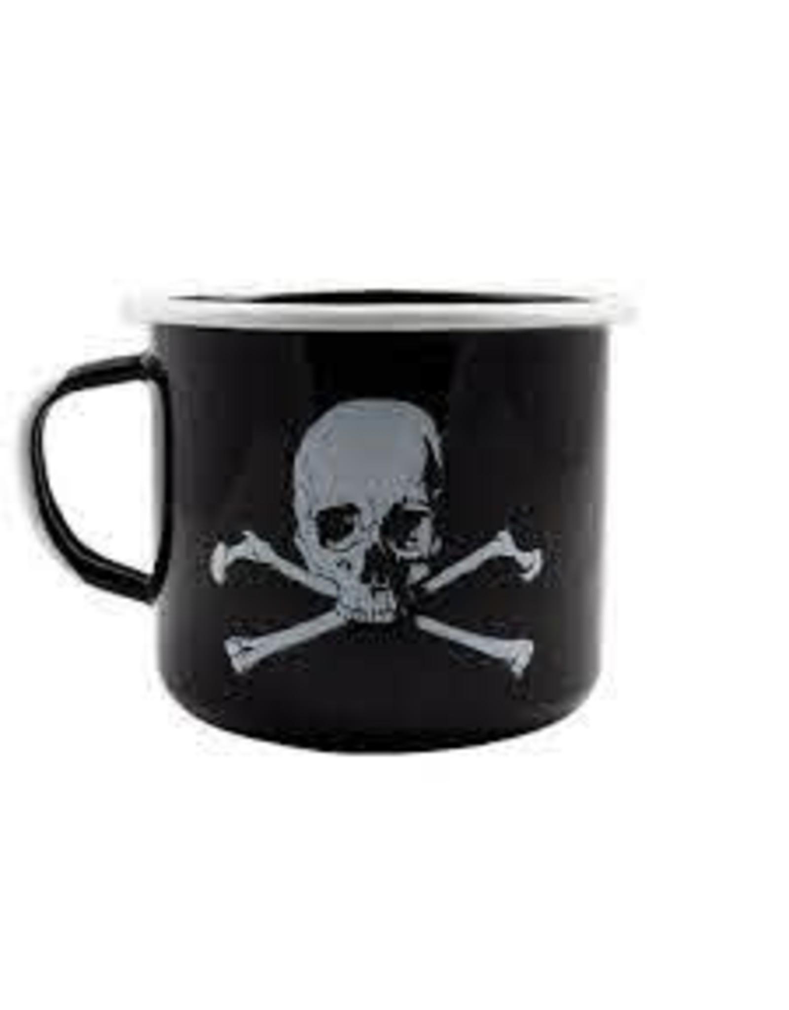 BLack Rifle Coffee Black Rifle Coffee Skull and Bones Enamel Mug