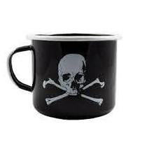Black Rifle Coffee Skull and Bones Enamel Mug