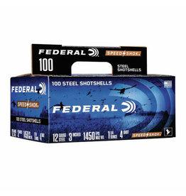 "Federal Federal 4 Speed Shok Waterfowl Shotshell 12 Ga, 3"", 1-1/4oz 1450fps #4, 100 Pack"