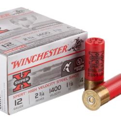 """Winchester Super-X Xpert Shotshell 12 GA 2-3/4"""" No. 4, 1-1/8oz, 1400 fps 25ct"""