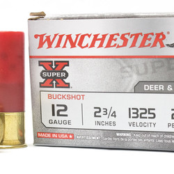 Winchester XB124 Super-X Shotgun Ammo 12 GA, 2-3/4 in, 4B, 27 Pellets 5ct