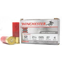 Winchester Winchester XB124 Super-X Shotgun Ammo 12 GA, 2-3/4 in, 4B, 27 Pellets 5ct