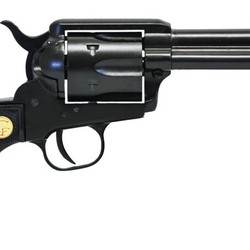 "Chiappa 340.250D 1873 Single Action Revolver 22LR/22 WMR SAA, Blk, 4.75"" Bbl, Blk Plastic Grips, 6 Rnd, Dual Cylinder"