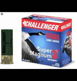 "Challenger Challenger Ammo 50179 12GA 3"" Steel Shot BBB 1 1/8oz Box 25"
