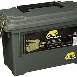 "Plano 121202 Field/Ammo Box, Compact, 13.75"" x 5.63"" x 5.56"", O.D. Green"