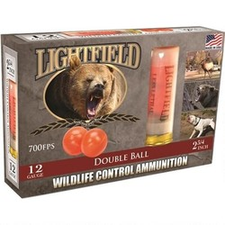 Lightfield Double Ball Wildlife Control Slugs 12 GA, 2-3/4 in