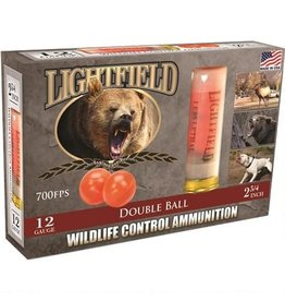 Lightfield Lightfield Double Ball Wildlife Control Slugs 12 GA, 2-3/4 in