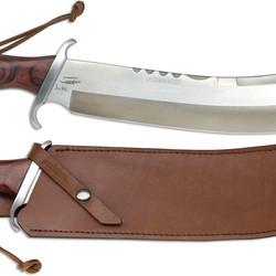 Gil Hibben IV Combat Machete With Leather Sheath