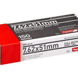 Aguila 7.62x51mm 150GR FMJBT 20ct