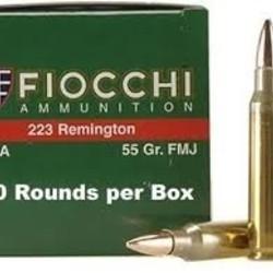 Fiocchi .223 Remington 55gr FMJ 50ct
