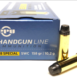 PPU Pistol Ammo 38 Special SWC HP 158GR 500rds