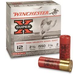 """Winchester Super-X Xpert Shotshell 12 GA 2-3/4"""" No. 2, 1-1/16oz, 1550 fps 25ct"""