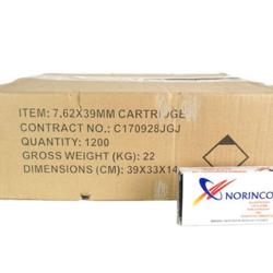Norinco 7.62x39mm 122GR FMC 1200ct Non Corrosive