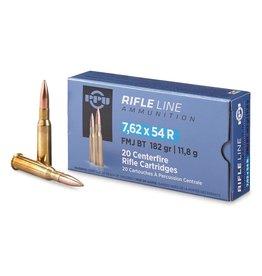 PPU PPU Rifle Ammo 7.62x54R Match FMJ 182gr 20 Rounds