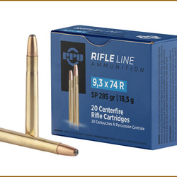 PPU Rifle Ammo 9,3x74R SP 285 GR 20 Rds