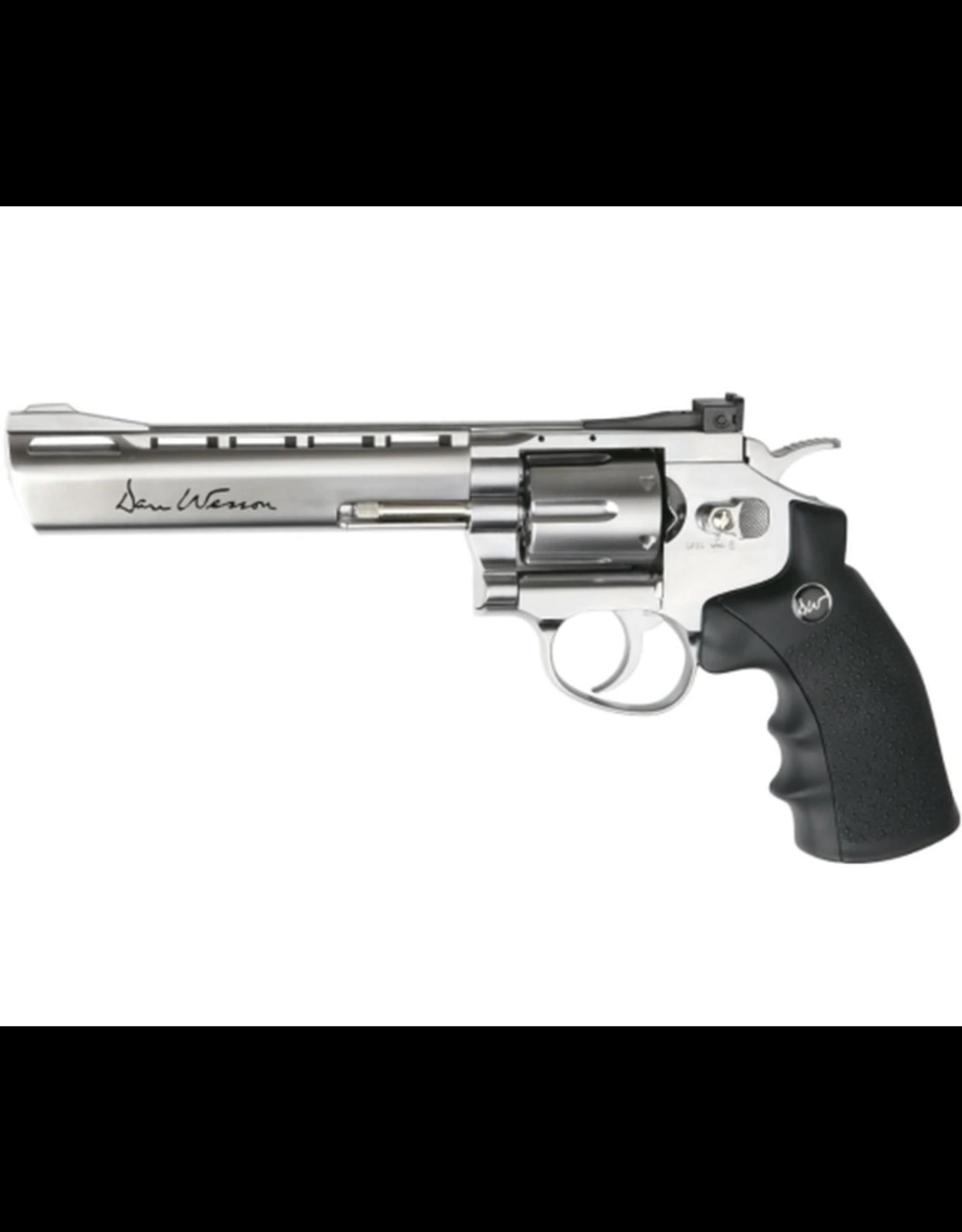 "ASG ASG Airgun GNB Co2 4.5mm Dan Wesson 6"" Silver Revolver"