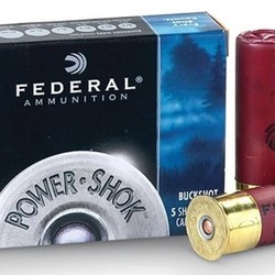"Federal Power-Shok Shotgun Ammo 12GA 2-3/4"" 1325FPS 5rds #00"