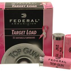 Federal Top Gun Target Shotshell 12 GA 2-3/4 1-1/8oz 1145 fps Pink 25ct