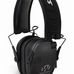 Walkers Razor Slim Shooter Folding Electronic Ear Muff Low Profile HD Sound Black