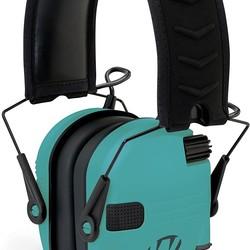 Walkers Razor Slim Shooter Folding Electronic Ear Muff Low Profile HD Sound Teal